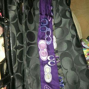 -do not buy-Coach poppy applique pony scarf